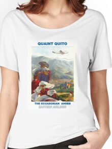 """EASTERN AIRLINES"" Fly to the Ecuadorian Andes Print Women's Relaxed Fit T-Shirt"