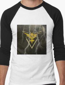 Pokemon Go - Team Instinct (lightning square) Men's Baseball ¾ T-Shirt