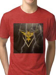 Pokemon Go - Team Instinct (lightning square) Tri-blend T-Shirt