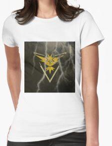 Pokemon Go - Team Instinct (lightning square) Womens Fitted T-Shirt