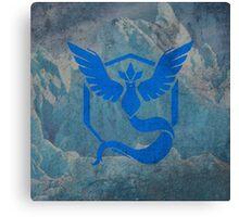 Pokemon Go - Team Mystic (arctic square) Canvas Print