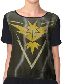 Pokemon Go - Team Instinct (lightning square) Chiffon Top