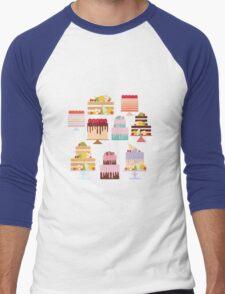Sweet Cakes Men's Baseball ¾ T-Shirt