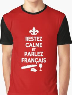 Keep Calm and Speak French Graphic T-Shirt