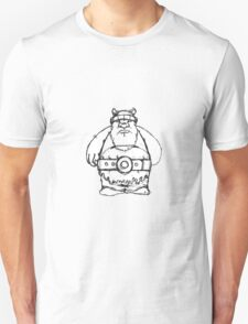 Wikinger, viking, olaf, bart, beard, danger, bellt, gürtel, cap, hat, grim, grimly, big,  fat, strong, helm, helmet, nordisch, north, horn T-Shirt