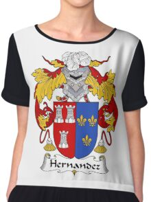 Hernandez Coat of Arms/Family Crest Chiffon Top