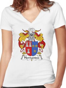 Hernandez Coat of Arms/Family Crest Women's Fitted V-Neck T-Shirt
