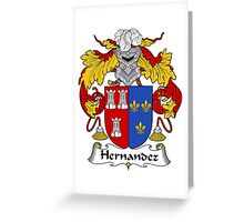 Hernandez Coat of Arms/Family Crest Greeting Card