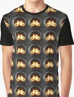 Amber Bike Traffic Light Graphic T-Shirt