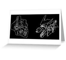 Optimus Prime Vs MechaGodzilla Styles Greeting Card
