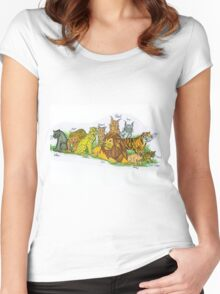 Find Your Pride! - Feline Family Women's Fitted Scoop T-Shirt