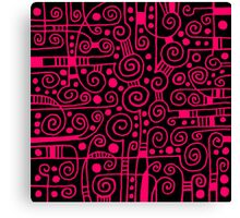 Abstract 040512 - Neon Red Canvas Print