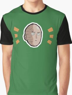 <ONE PUNCH MAN> Saitama Face Graphic T-Shirt