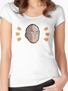 <ONE PUNCH MAN> Saitama Face Women's Fitted Scoop T-Shirt