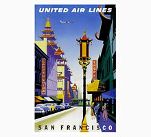 """""""UNITED AIR LINES"""" Fly to San Francisco Advertising Print Unisex T-Shirt"""