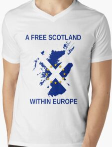 I Support A Free Scotland Within Europe Mens V-Neck T-Shirt