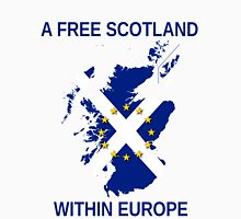 I Support A Free Scotland Within Europe Men's Baseball ¾ T-Shirt