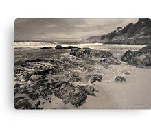 Montara Beach I Toned Metal Print