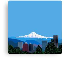 Pixel City Canvas Print