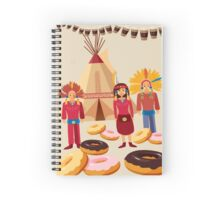 Donuts ate red indians Spiral Notebook
