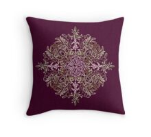 Purple Sequin Pattern Throw Pillow