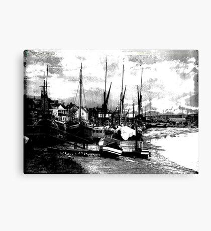 Boats At Sundown  Canvas Print