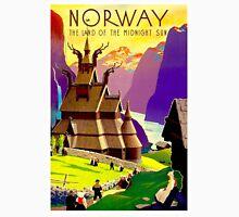 """NORWAY"" Land of Midnight Sun Advertising Print Unisex T-Shirt"