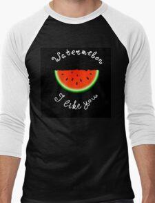 Red watermelon Men's Baseball ¾ T-Shirt