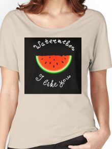 Red watermelon Women's Relaxed Fit T-Shirt