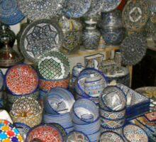 Moroccan blue pottery Sticker