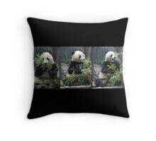 Panda Feast Throw Pillow