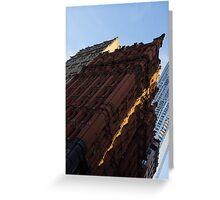 A Slice of Sunshine - Manhattan's Potter Building at Sunrise Greeting Card