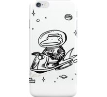 Space Ape Rides Rocket Scooter iPhone Case/Skin
