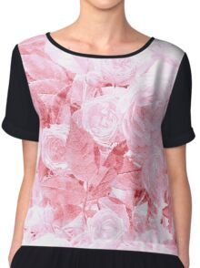 Bright Pink Watercolor Floral Chiffon Top