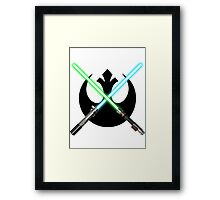 Jedi Rebel Alliance Framed Print