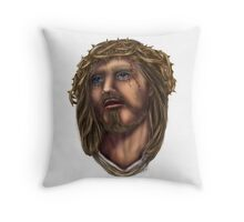 Beautiful Jesus portrait  Throw Pillow