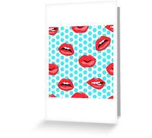 woman lips Greeting Card