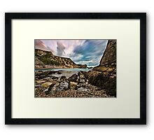 Man 'O' War Bay, Dorset, England Framed Print