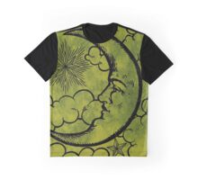 Moon vintage green black Graphic T-Shirt