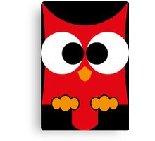eule rot, owl Canvas Print