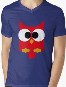 eule rot, owl Mens V-Neck T-Shirt