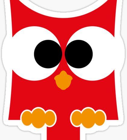 eule rot, owl Sticker