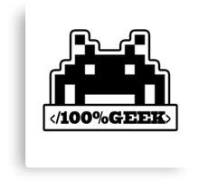 100% Geek Canvas Print
