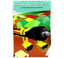 """AIR RACES"" Cleveland 1932 International Advertisement Poster"