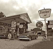 Old Gas Station by Andrew Felton