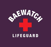 Baewatch Lifeguard Womens Fitted T-Shirt
