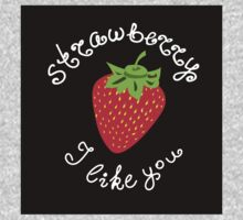 Red strawberry Kids Tee