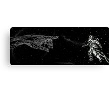 Meeting the Colossus  Canvas Print