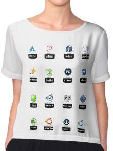 linux distributions set stickers /more Chiffon Top