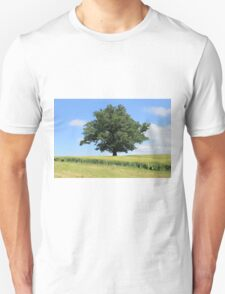 The lone tree in a field Unisex T-Shirt